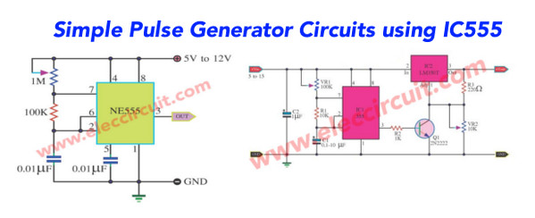 free electronic circuit diagram ps2 keyboard wiring simple 555 pulse generator - eleccircuit.com