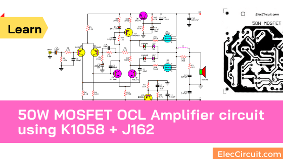 100 W Subwoofer Circuit Diagram 50w Mosfet Amplifier Circuit Ocl Using K1058 J162