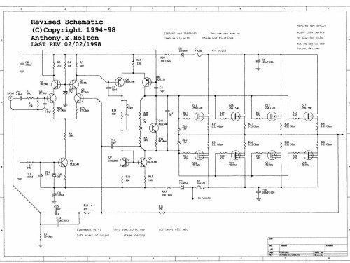 small resolution of 300w mosfet power amp ocl hifi class ab by k1530 j201