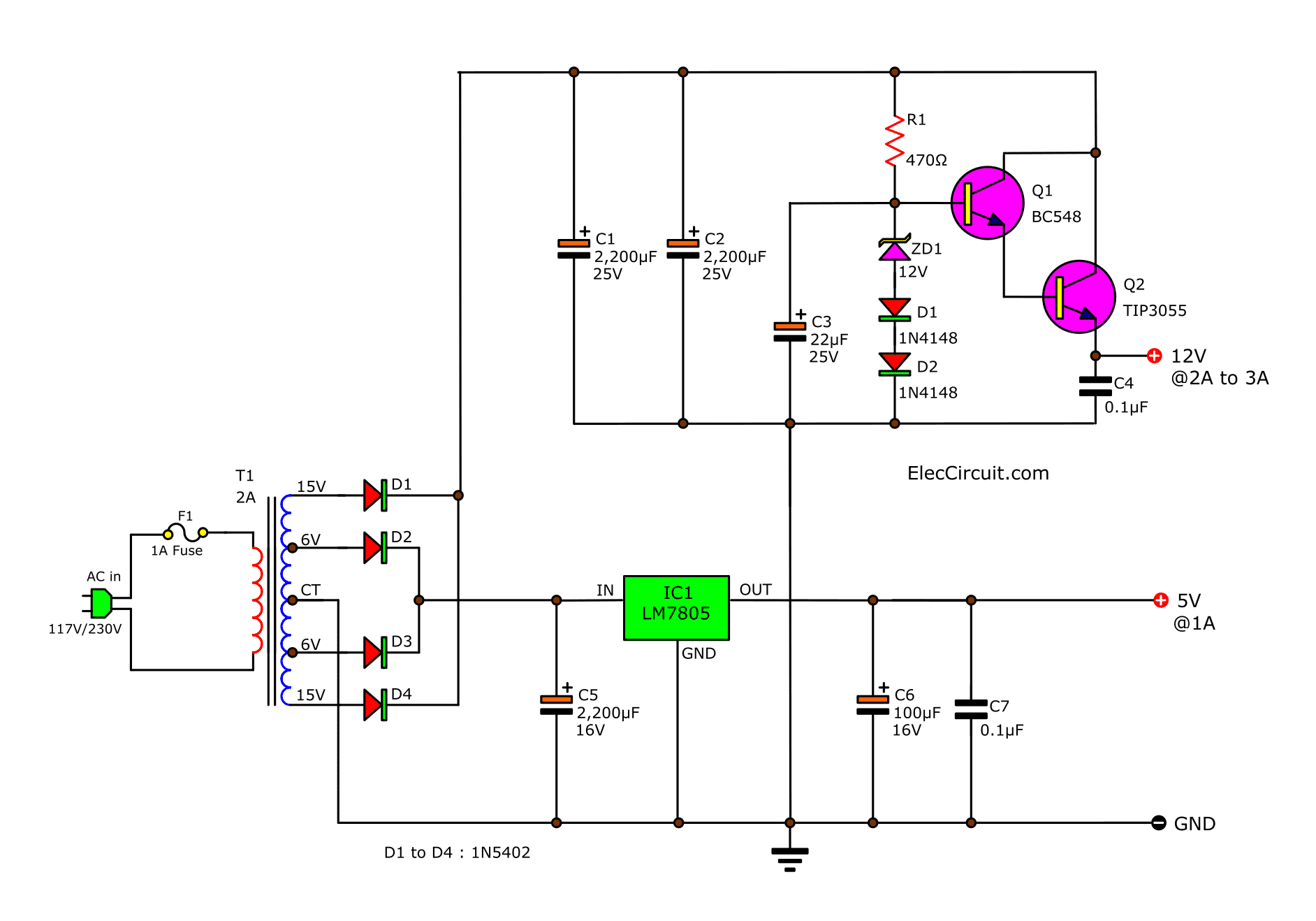 5v And 12v Power Supply