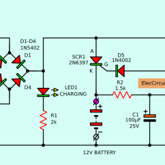12v Dc To 9v Converter Circuit Diagram 2000 Dodge Durango Radio Wiring Automatic Battery Charger Projects Eleccircuit