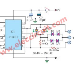 Wiring Diagram For Automotive Voltmeter 2009 Yamaha Raptor 700r Test Transistor In Circuit By Ic 4011 And Explanation | Electronic Circuits, Schematics ...