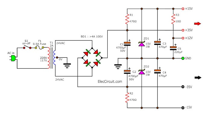 Negative Voltage Transistor Switching Regulator Circuit