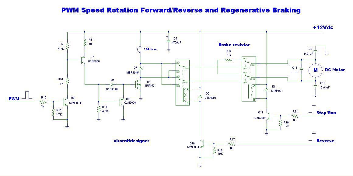 10000 Inverter Wiring Diagram Pwm Speed Rotation Forard Reverse And Regenerative Braking