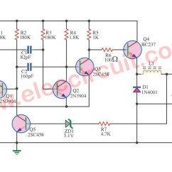 Circuit Diagram Of Buck Boost Converter 2 Speed Motor Wiring 5v Switching Regulator Using Transistor - Eleccircuit