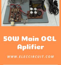 25w ocl power amplifier circuit using stk032 [ 1782 x 864 Pixel ]