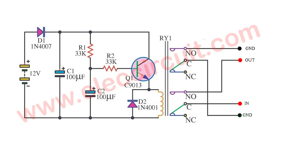 Delay Circuit Schematic Additionally Time Delay Relay Circuit Diagram