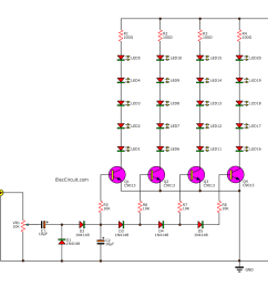 transistor simple led vu meter circuit [ 1000 x 836 Pixel ]
