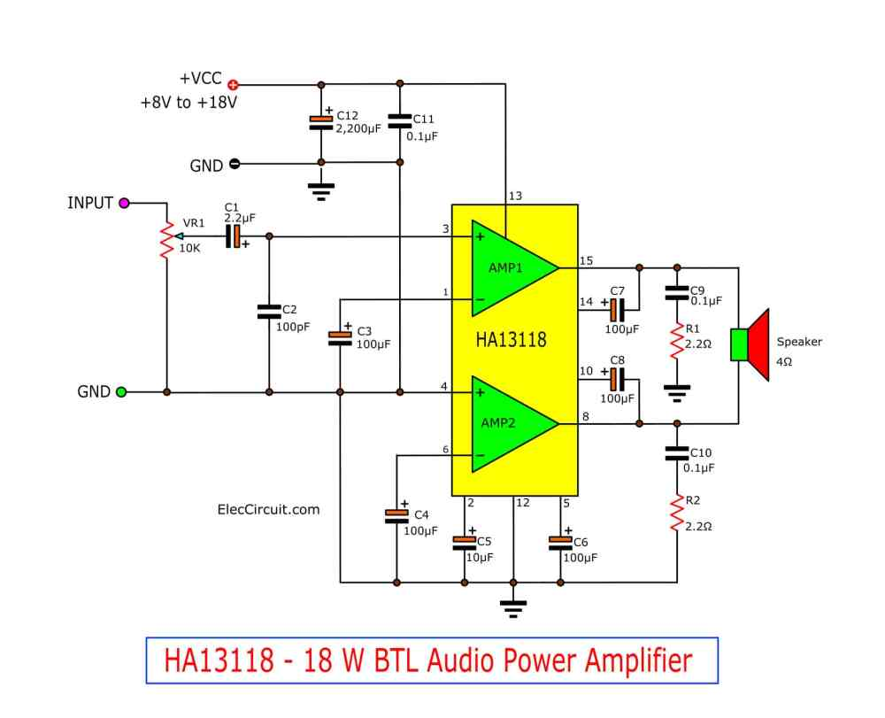medium resolution of see in the circuit above enter a power supply circuit 12v and then enter an audio signal into the input