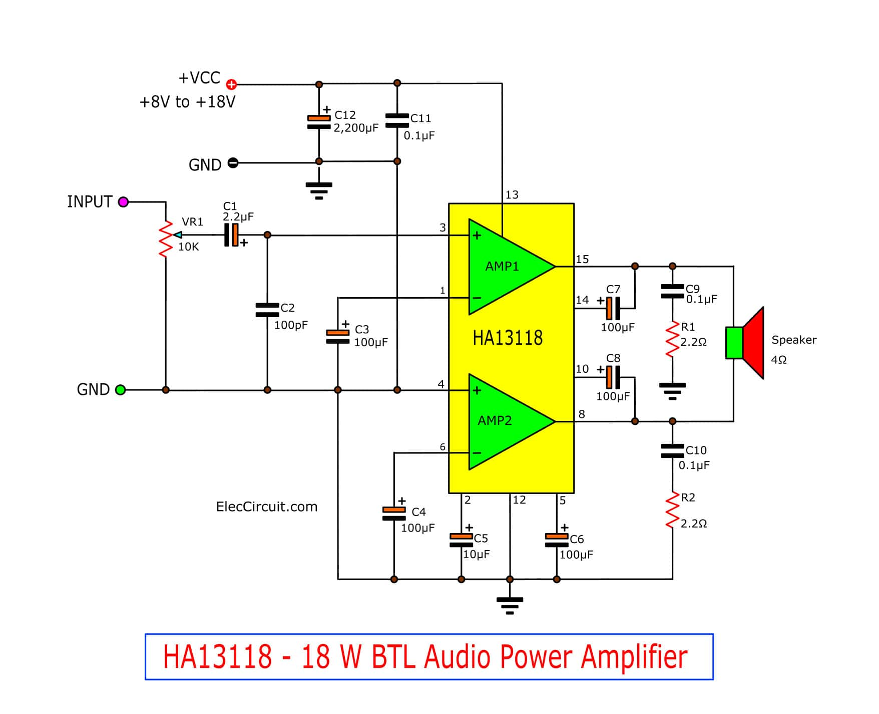 hight resolution of see in the circuit above enter a power supply circuit 12v and then enter an audio signal into the input