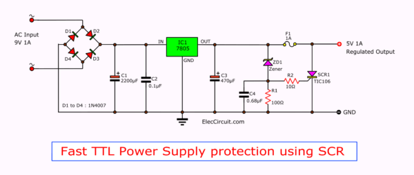 Protection Circuit A Diode Protect Cmos Circuit Over Under Voltage
