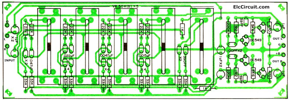 medium resolution of layout skema equalizer 40ch ponent layout 5 channel graphic equalizer by bc548 layout skema
