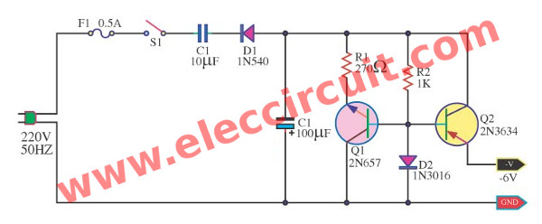 Circuit Diagram Also Simple Transistor Voltage Regulator Circuit