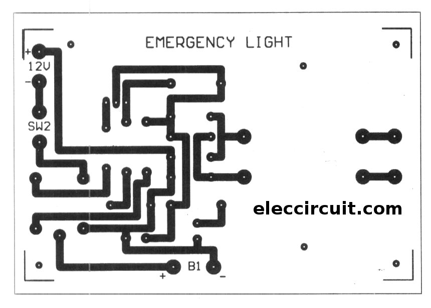 cheap emergency lights using d313