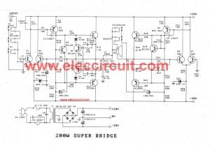 High power amplifier circuit ideas using transistors, 100W
