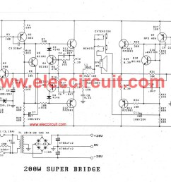 200w guitar amplifier circuit diagram with pcb layout bass guitar super bridge amplifier 200 watt [ 1436 x 1000 Pixel ]