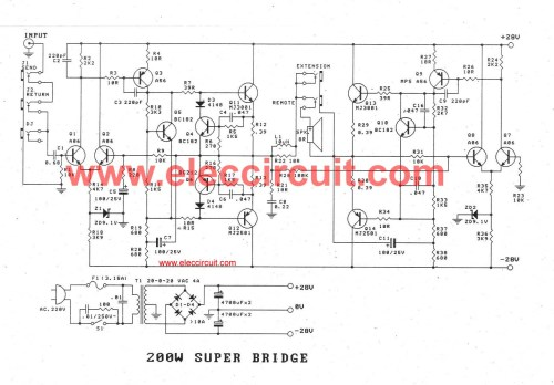 small resolution of 200w guitar amplifier circuit diagram with pcb layout bass guitar super bridge amplifier 200 watt
