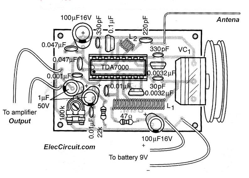 simple fm receiver by tda7000
