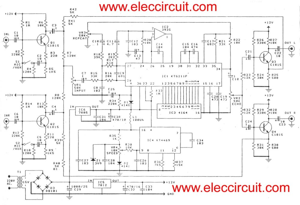 medium resolution of microphone echo circuit diagram super stereo digital echo circuit microphone echo circuit diagram