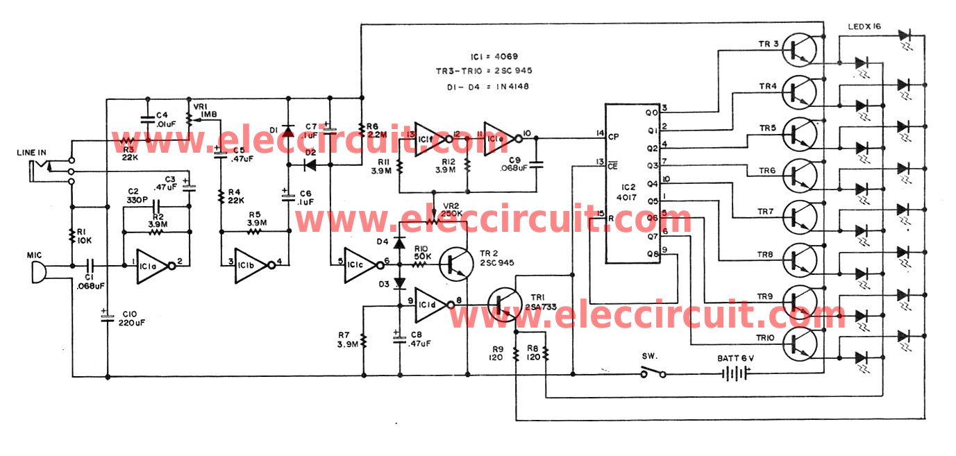 hight resolution of cheap christmas led flasher circuit is controlled by audio