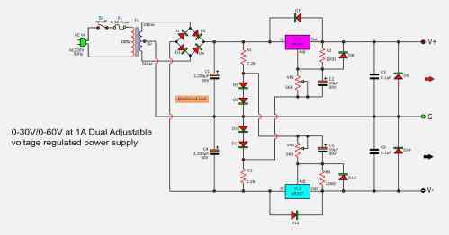 small resolution of how to build 15 35 volt dc regulated power supply circuit diagram power wiring diagram for