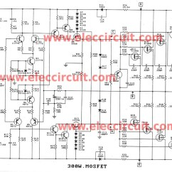 High Voltage Circuit Diagram Fender N3 Noiseless Pickups Wiring 300 1200w Mosfet Amplifier For Professionals