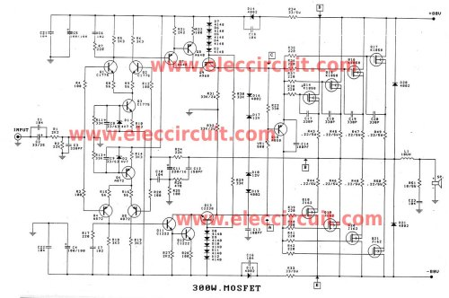small resolution of 300 1200w mosfet amplifier for professionals projects circuits free diagrams amplifiers mosfet 500 watts