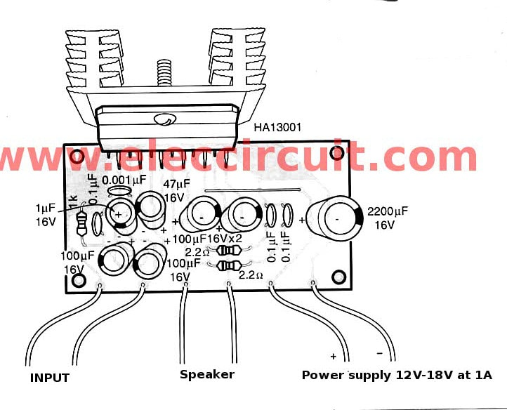 Soft Wiring: Layout Amplifier Subwoofer 80 Watt