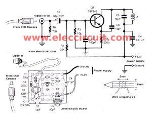How to install CCD camera sensor with VHF sender