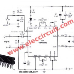 100w Subwoofer Amplifier Circuit Diagram Rover 75 Audio Wiring 12v Car Circuit, 50w - 65w With Pcb Eleccircuit.com