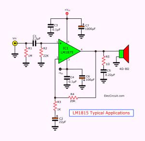 LM1875 Datasheet  25W HIFi audio amplifier circuit