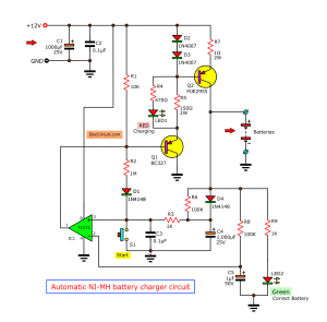 Automatic nimh battery charger circuit cutoff when full  EleeCircuit
