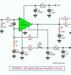 60 watt stereo amplifier circuit using lm3876 [ 1100 x 1224 Pixel ]