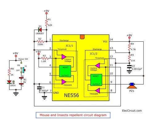 small resolution of ultrasonic pest repeller circuit diagram electricalequipment data mouse repellent electronic circuit diagram