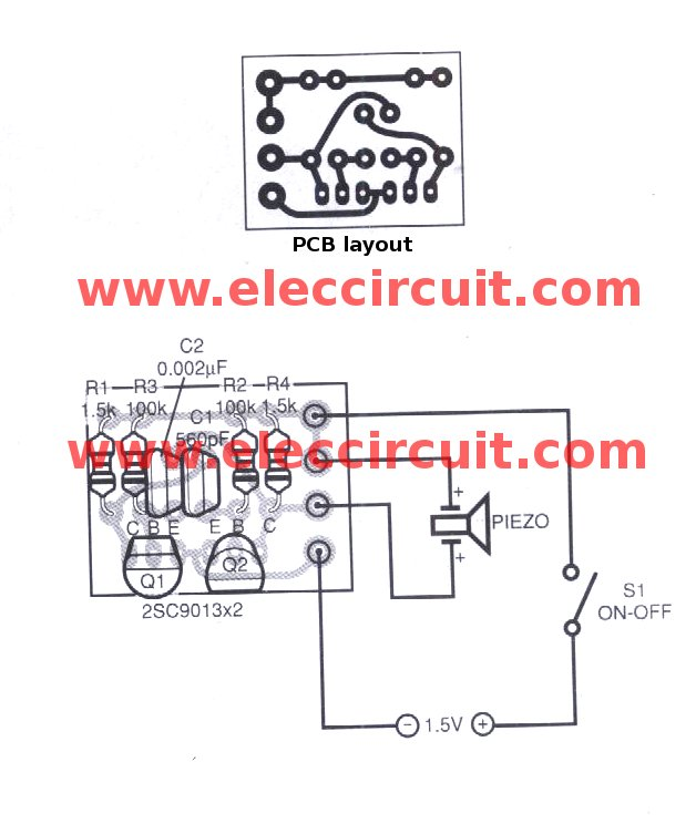 electronics mini projects with circuit diagram assembly line mosquito repellent project pcb eleccircuit com layoutand components of simple