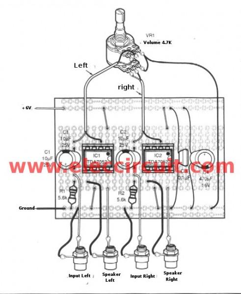 stereo amplifier 3w 3w using ba5406 ic