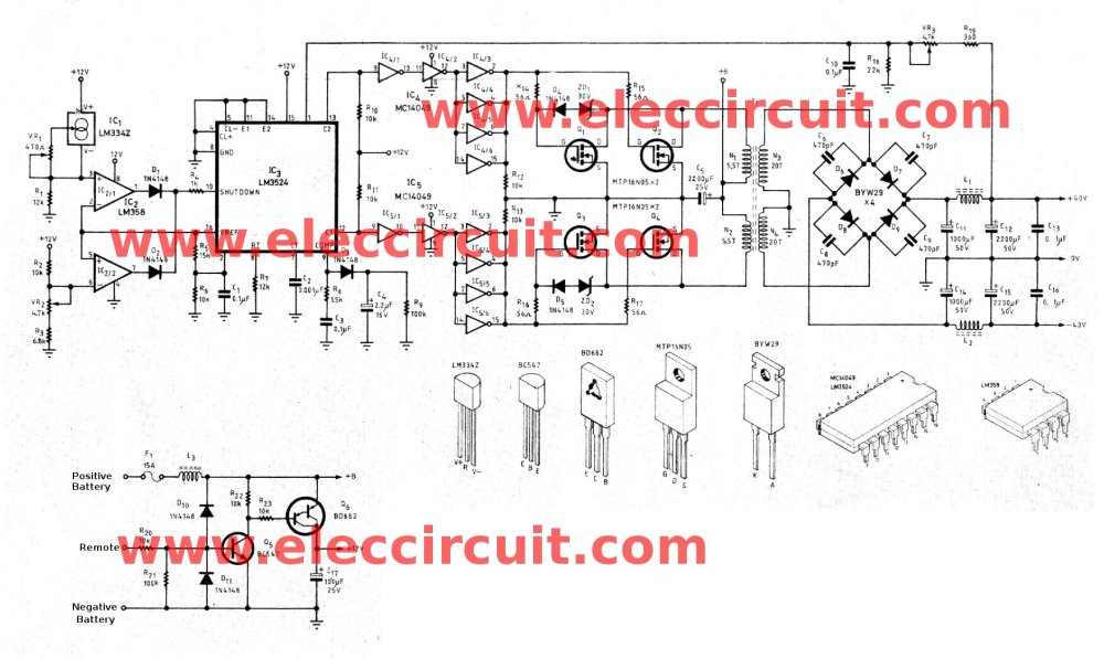 medium resolution of circuit of dc to dc converter 12v to