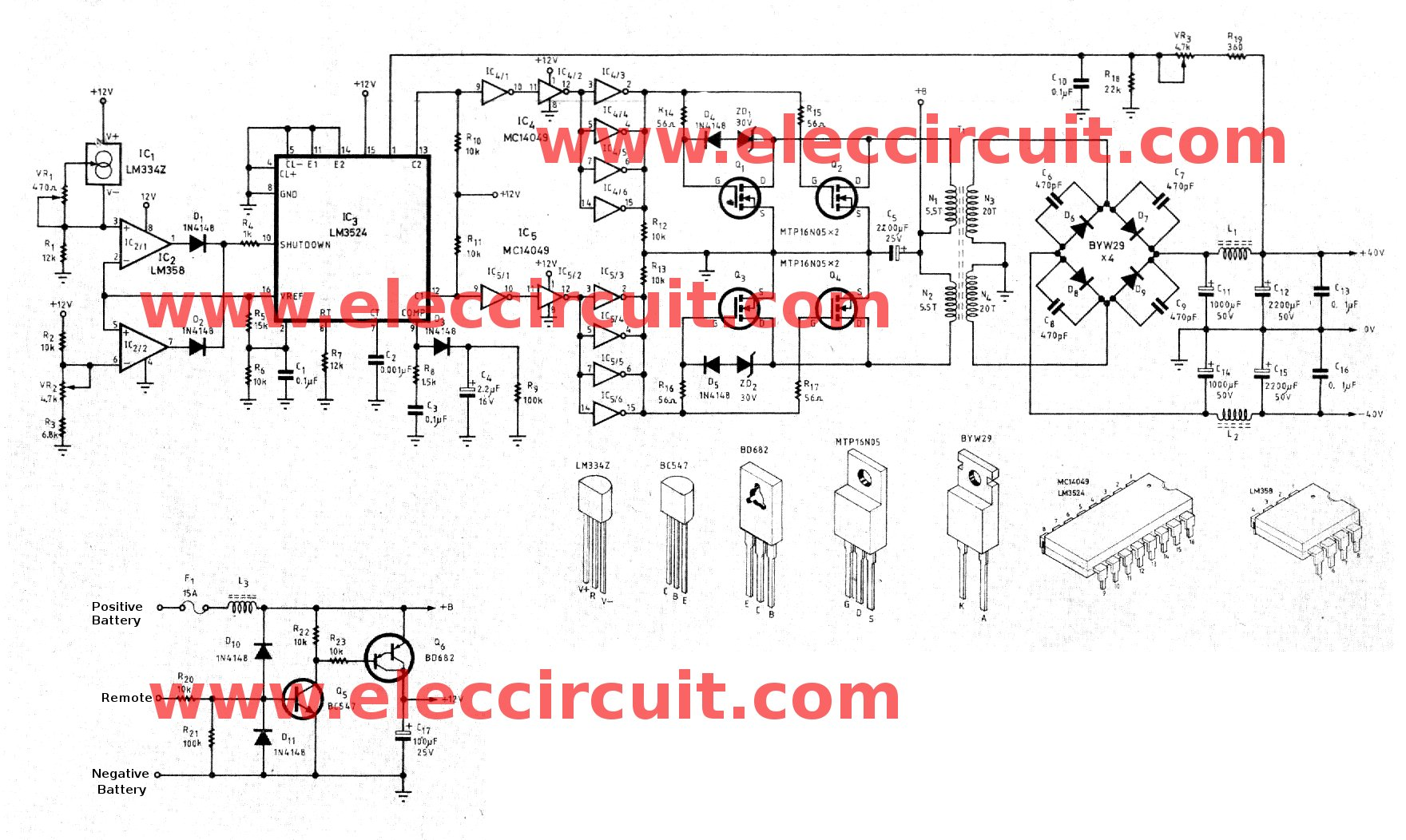 hight resolution of circuit of dc to dc converter 12v to