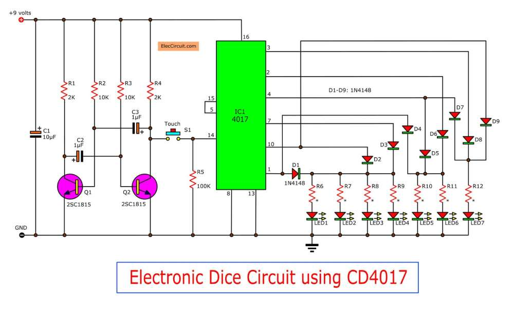 medium resolution of figure 1 the electronic dice circuit