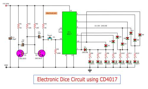 small resolution of figure 1 the electronic dice circuit