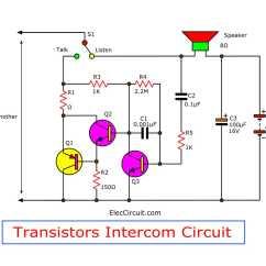 Transistor Wiring Diagram Ford Radio Diagrams Simple Intercom Circuit Eleccircuit Com Figure 1 Using Tree Transistors