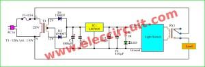 Daylight sensor switch circuit,control artificial waterfall