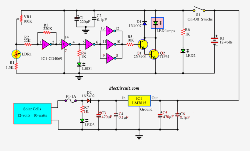 small resolution of 5 automatic led night light switch circuit