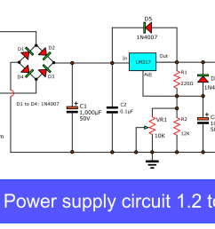 but this circuit can be created with a single ic is lm317 based variable power supply  [ 1706 x 931 Pixel ]