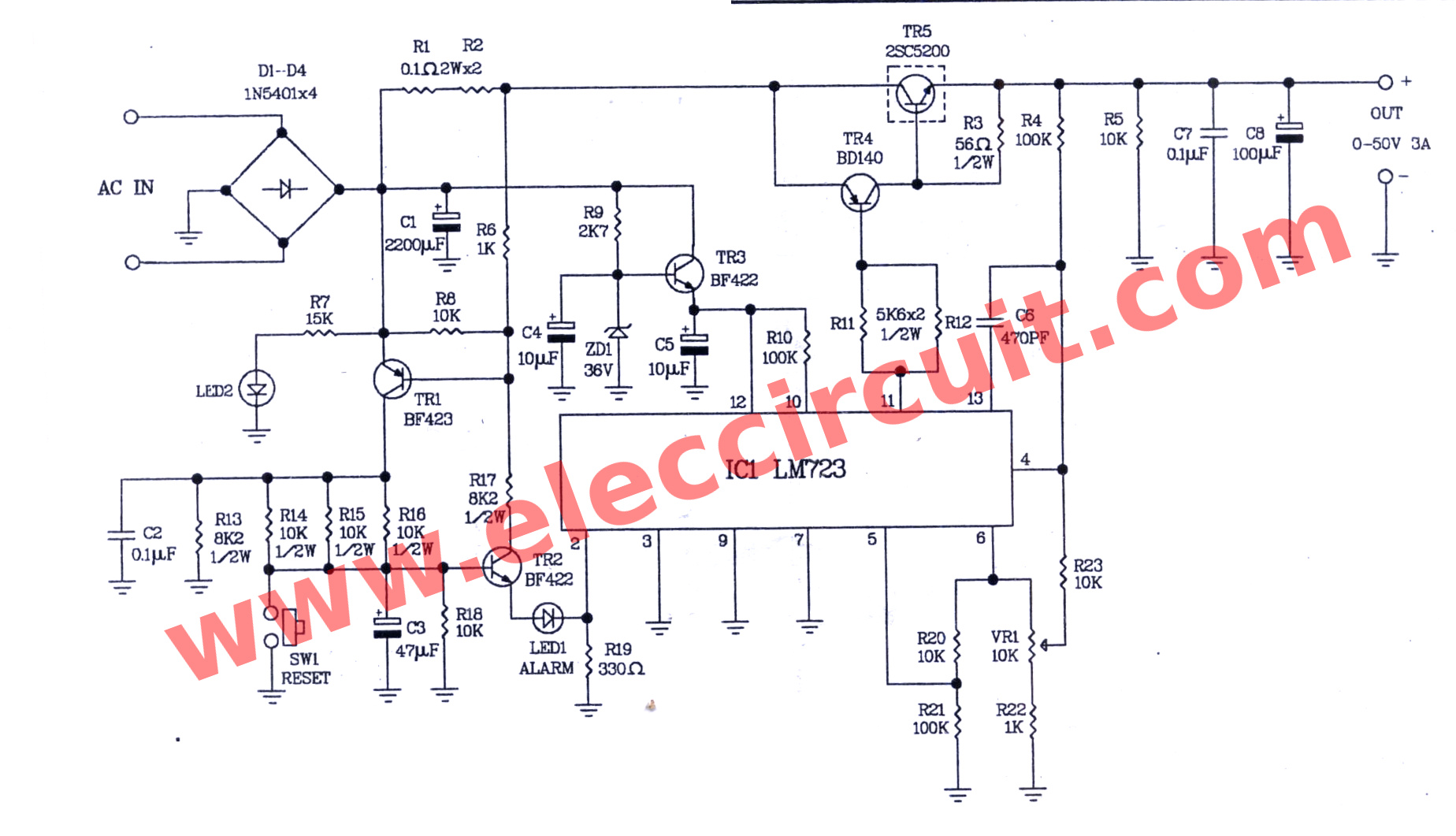 hight resolution of the circuit diagram of 0 50v 3a variable dc power supply
