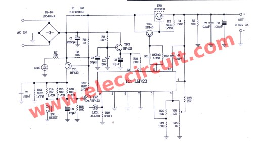 small resolution of the circuit diagram of 0 50v 3a variable dc power supply