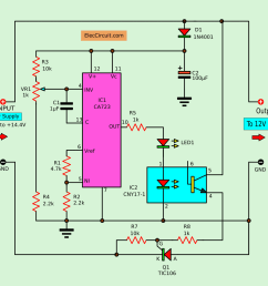 circuit diagram of the automatic battery charger [ 1228 x 1053 Pixel ]