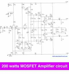 200 watt mosfet amplifier circuit to 300w on class g projects circuits 200 watt mosfet power amplifier schematic [ 2145 x 2145 Pixel ]