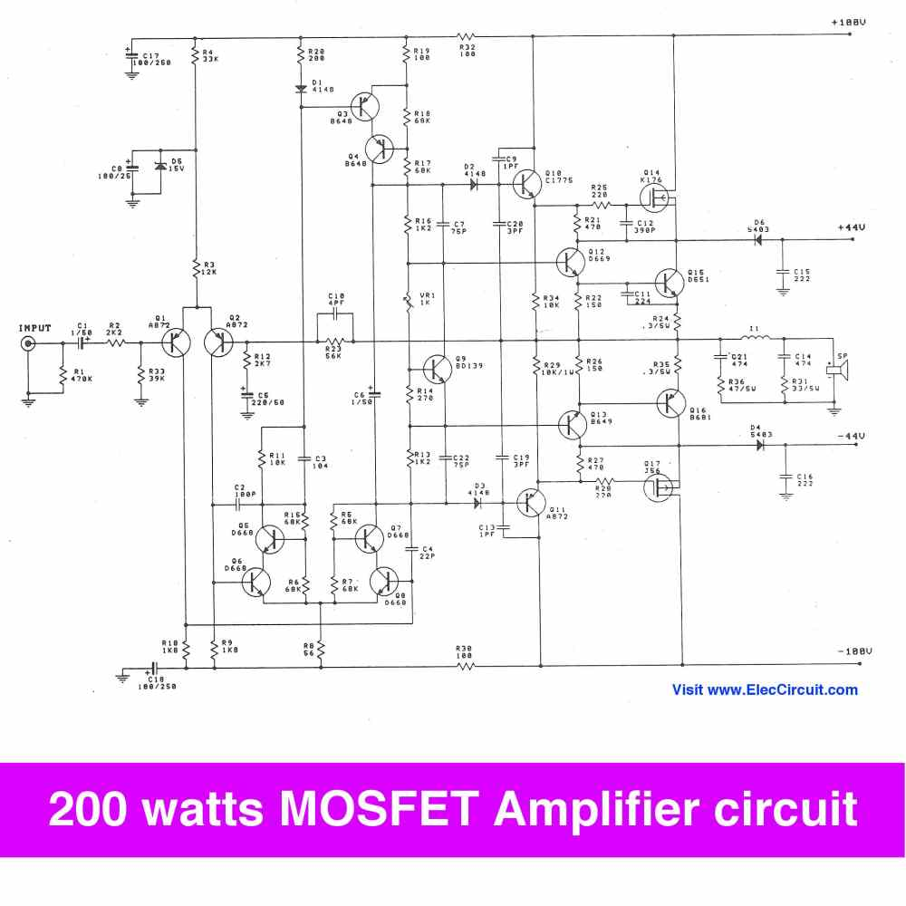 medium resolution of 200 watt mosfet amplifier circuit to 300w on class g projects circuits 200 watt mosfet power amplifier schematic