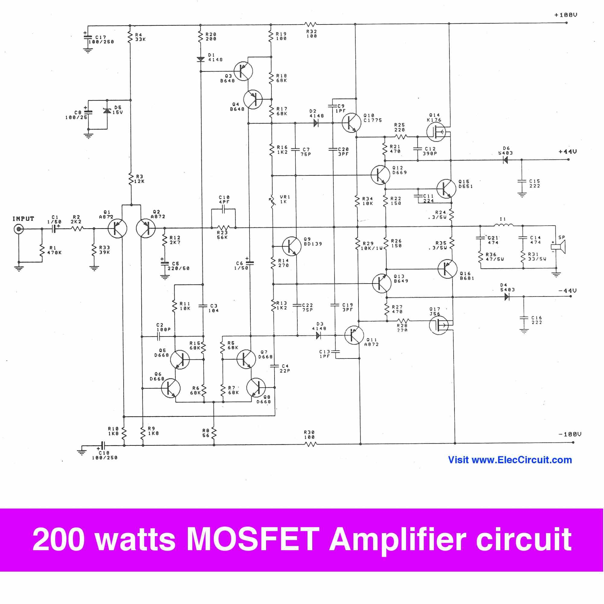 hight resolution of 200 watt mosfet amplifier circuit to 300w on class g projects circuits 200 watt mosfet power amplifier schematic